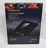 Индукционная плита Domotec Германия, настольная электроплита кухонная 2000 Вт, фото 6