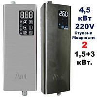 Котел электрический ARTI ES, 4.5 кВт 220В из нерж. стали и защитой от работы без воды и датчиком комнатной  Т