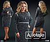 Платье повседневное приталенное букле 50,52,54,56, фото 3