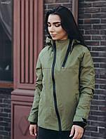 Женская молодежная весенне-осенняя куртка стафф/ Жіноча демісезонна куртка Staff lipnot haki HH0127
