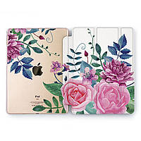 Чехол книжка, обложка для Apple iPad (Симпатичные цветы) модели Pro Air 9.7 10.5 11 12.9 mini 1 2 3 4 5 айпад про эйр 2017 2018 2019 case smart cover