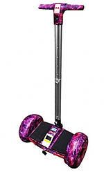 """Гироскутер с ручкой А8 Smart Balance 10.5"""" розовый космос"""
