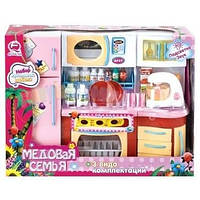 Детский игровой набор - Кухня  Медовая семья  7 предметов QunFengToys (2803S/R)