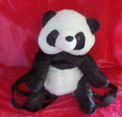 Дитячий рюкзак панда 30 см рюкзак у вигляді плюшевої іграшки
