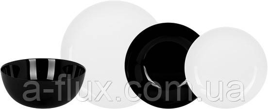 Сервиз столовый DIWALI BLACK & WHITE, 19 пр. Luminarc P4360