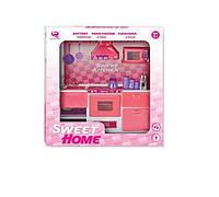 Кукольная кухня Современный дом (розовая), Qun Feng Toys (2559Р)