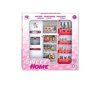 Кукольная кухня Современный дом (розовая), Qun Feng Toys (2579Р)