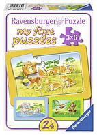 Мои первые пазлы 3в1 Ravensburger Обезьянка, слон и лев Ravensburger (06574R)