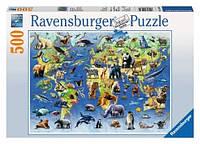 Пазл Ravensburger Редкие виды животных, 500 элементов Ravensburger (14264)