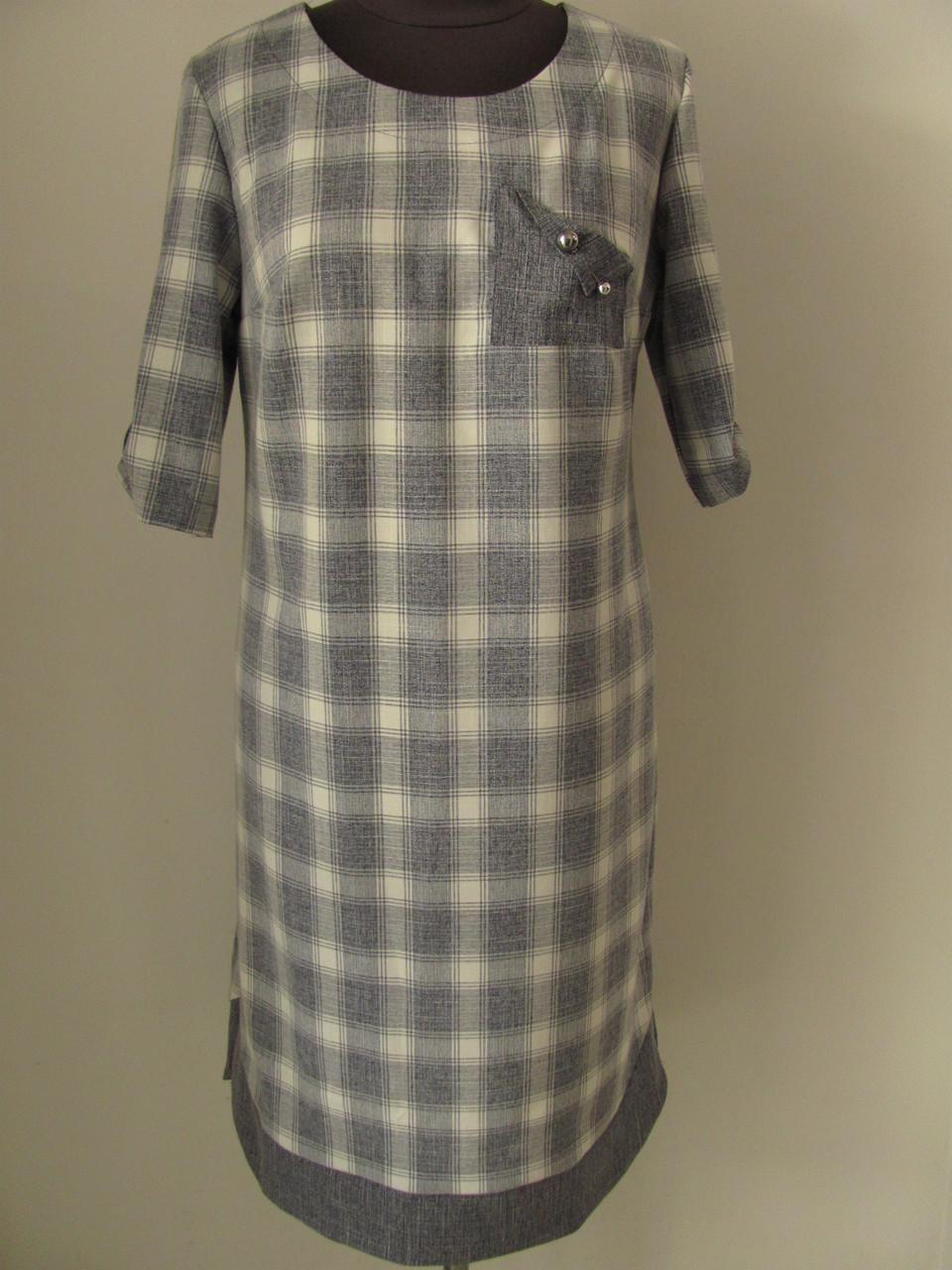 Платье полуприталенного кроя больших размеров на каждый день или праздник р.54 код 2259М