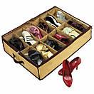 Компактный органайзер для хранения обуви   Полка органайзер для взуття Shoes under server, фото 6