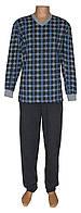 Снова в продаже теплые мужские пижамы для сна и дома - Pocket Soft Grey&Blue коттон начес ТМ УКРТРИКОТАЖ!