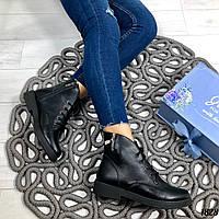 Короткие кожаные ботинки на шнурках
