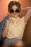 """Блузка женская нарядная с гипюром, размер 42-46 (2цв) """"BLUZA"""" купить недорого от прямого поставщика"""