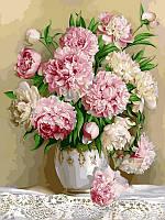 Картина по номерам Роскошные пионы худ Жалдак Эдуард Александрович (VP537) 40 х 50 см