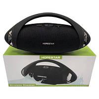 Колонка портативная беспроводная Hopestar H37 влагозащитная Bluetooth акустика,блютуз колонка хопестар Черный