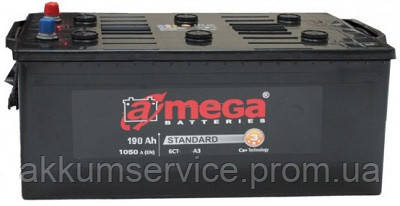 Акумулятор вантажний A-Mega Standart 190AH 4+ 1050A (M3) Truck