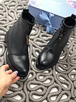Осенние ботинки  BOSS натуральная кожа
