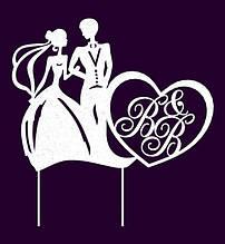 Свадебные топперы, силуэты на свадьбу