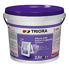 Акриловая эмаль для окон и дверей Triora 2,5л