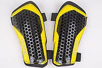 Щитки футбольные Mitre на резинках (Желто-черные)