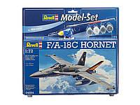 Подарочный набор для моделирования Самолет F/A-18C Hornet, 1:72 Revell. Revell (64894)