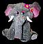 Серый сидящий плюшевый Слон 90 cм детская мягкая музыкальная игрушка, фото 3