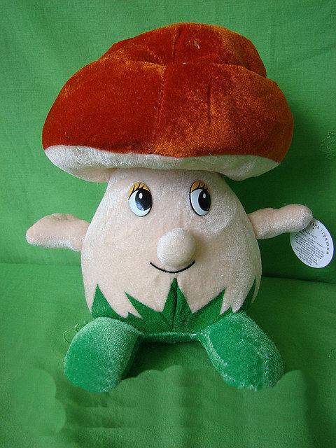 Плюшевый Грибочек 25 см музыкальная мягкая игрушка для детей на подарок