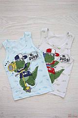 """ОПТОМ Майка с динозавром для мальчика 0-1 года """"Hi, Dude!"""" (0-1 год)  Donella 8697840515393"""