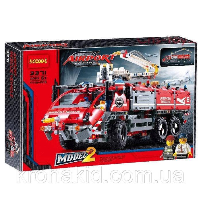 """Конструктор Decool 3371 """"Спасательный транспорт для аэропорта"""" (аналог Lego Technic 42068), 1110 дет"""
