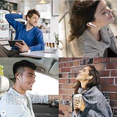 Беспроводные сенсорные Bluetooth наушники i15 max 5.0 tws с кейсом белые, фото 3