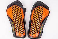 Щитки футбольные Mitre на резинках (Оранжевые), фото 1