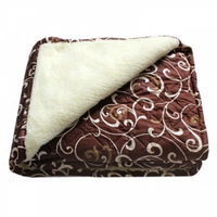Одеяла меховые из овечьей шерсти 175x210 см двухспальный