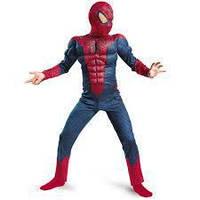 Костюм человека-паука с мускулами карнавальный L M S c тряпичной маской