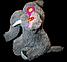 Мягкая детская игрушка слон 45 см сидящий серый, фото 2