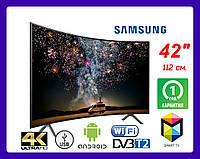 "Телевизор Samsung 42""+ Smart TV, Wi-FiUltra HD изогнутый"