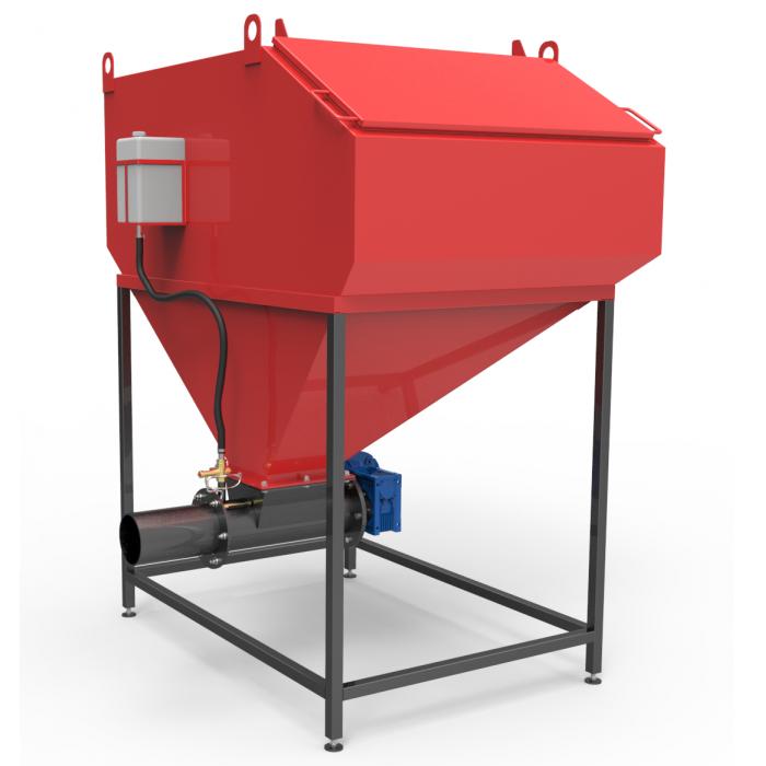 Шнековая система с бункером 0,6куб.м автоматической подачи топлива 25-50 кВт