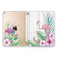 Чехол книжка, обложка для Apple iPad (Фламинго, тропики) модели Pro Air 9.7 10.5 11 12.9 mini 1 2 3 4 5 айпад про эйр 2017 2018 2019 case smart cover