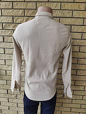 Рубашка мужская коттоновая стрейчевая брендовая высокого качества PART TIME, Турция, фото 3