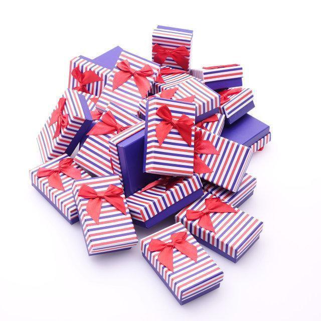 """Коробочка под набор """"Полоска NEW красно-синяя 9.5х 7х 2,5 см"""""""