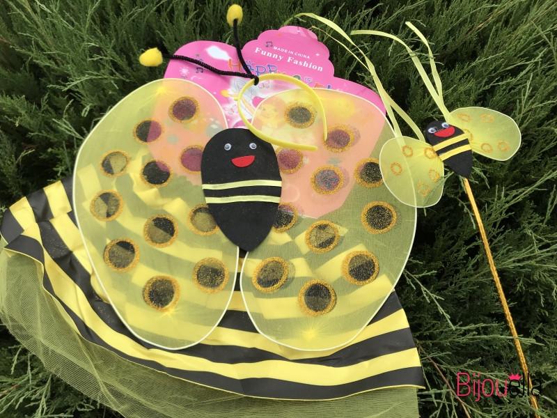 Детский костюм для девочки карнавальный НАБОР «ПЧЁЛКА» 3 В 1 на утренник, на хэллоуин
