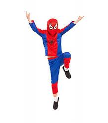 Костюм супер героя спайдермена карнавальный детский «ЧЕЛОВЕК ПАУК» новогодний на хэллоуин L M S