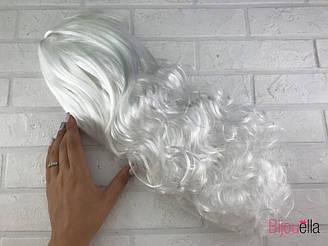 Перука білий на маскарад на Хеллоуїн кучерявий на карнавал, свято
