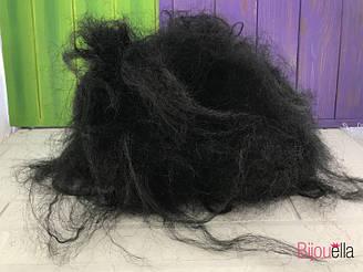 Образ лешого парик пышный черный на Хэллоуин, карнавал, утренник