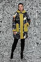 Женская двухсторонняя куртка город М-767 / размер 54-72 / цвет оливка
