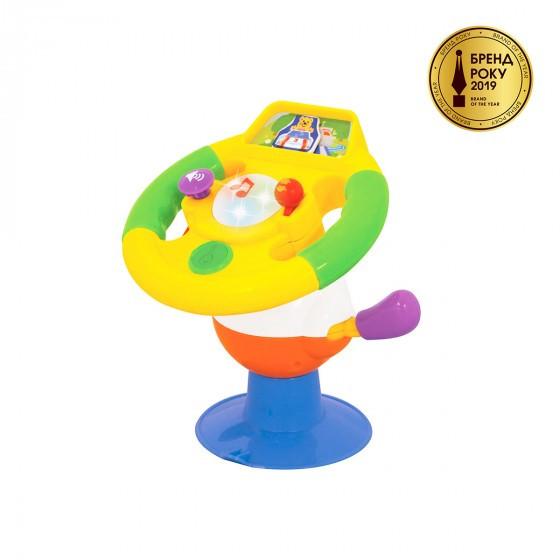 Іграшка на присоску - РОЗУМНЕ КЕРМО (світло, озвуч. укр. мовою)