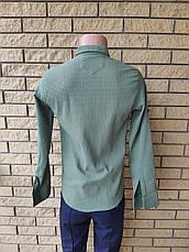 Рубашка мужская коттоновая стрейчевая брендовая высокого качества PART TIME, Турция, фото 2