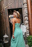 Изумительное платье (цвет - мята, ткань - лен) Размер S, M, L (розница и опт), фото 1