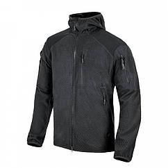 Куртка ALPHA HOODIE - Grid Fleece - Black