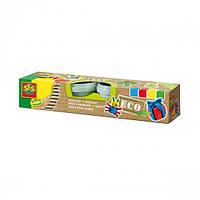 """Незасихаюча маса для ліплення серії """"Еко"""" - КЛАСИК (4 кольори, у пластикових баночках)"""